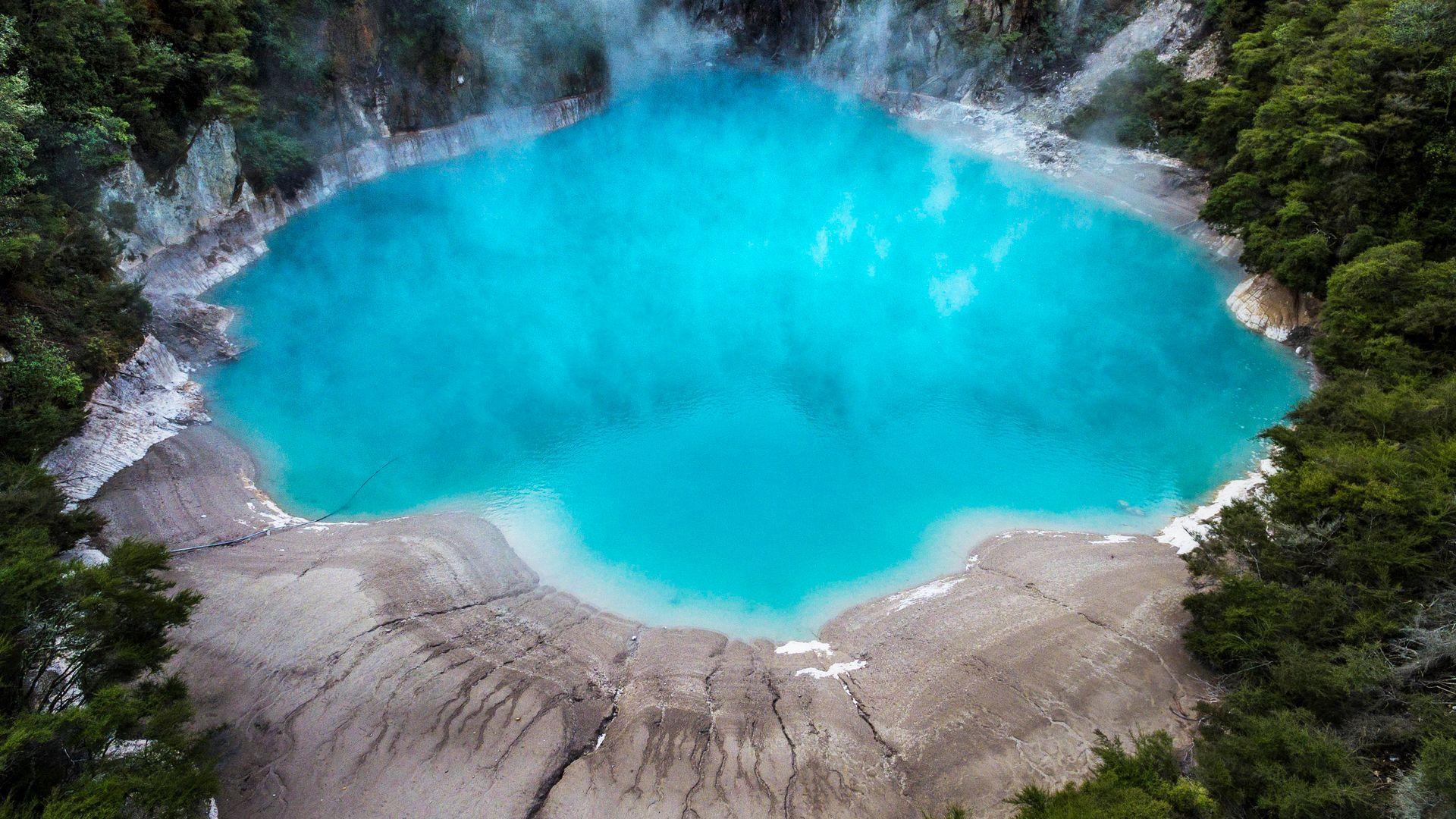 Inferno Aerial | Waimangu Volcanic Valley Tour | Thermal Land Shuttle
