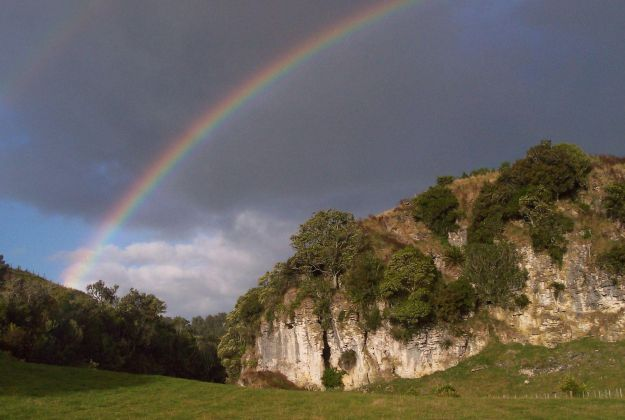 Rainbow Over Cliffs | Thermal Land Shuttle